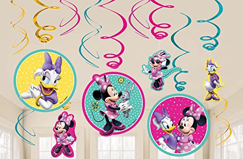 Amscan Foil Swirl Decoration | Disney Minnie Mouse Happy Helpers Collection | Party Accessory ()