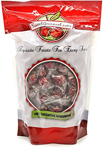 SweetGourmet Primrose Individually Wrapped Filled Raspberries Hard Candies (1.5Lb)