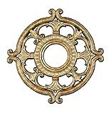 Livex Lighting 8218-65 Ceiling Medallion, Hand Painted Vintage Gold Leaf