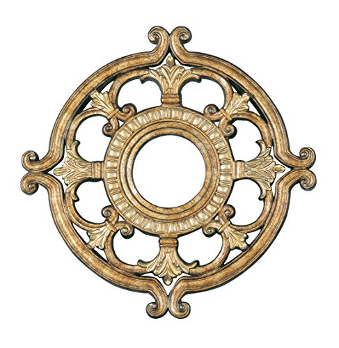Livex Lighting 8218-65 Ceiling Medallion, Hand Painted Vintage Gold (Painted Ceiling Medallions)