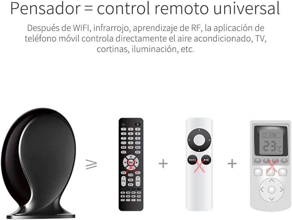 Geeklink Thinker automatización Inteligente del hogar Universal IR Hub de Control iOS/Android WiFi +RF+4g Voz Controlador Remoto por TV,Ventilador,HVAC,Timer Switch para Alexa,Google Home (Blanco): Amazon.es: Electrónica