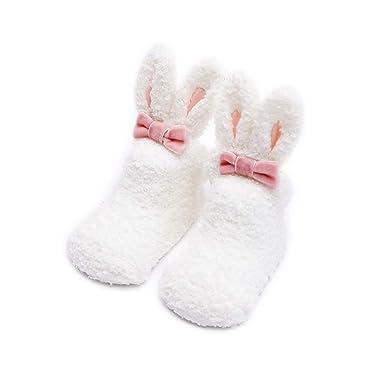 AMEIDD Bebé recién nacido niñas calcetines de coral blando ...