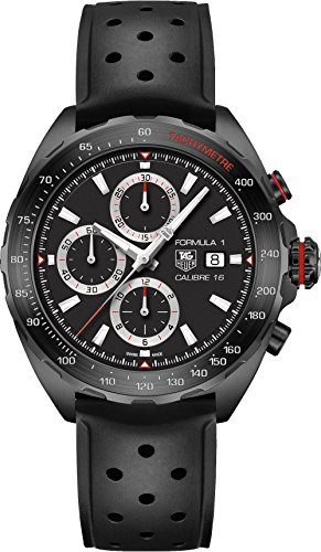 (TAG Heuer Men's CAZ2011.FT8024 Stainless Steel Watch with Black Rubber Band)