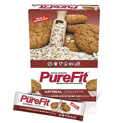 Crunch Cinnamon Granola (PureFit Gluten-Free Nutrition Bars with 18 grams Protein: Oatmeal Cinnamon, 2 oz Bars, Pack of 15 (Formerly Granola Crunch))