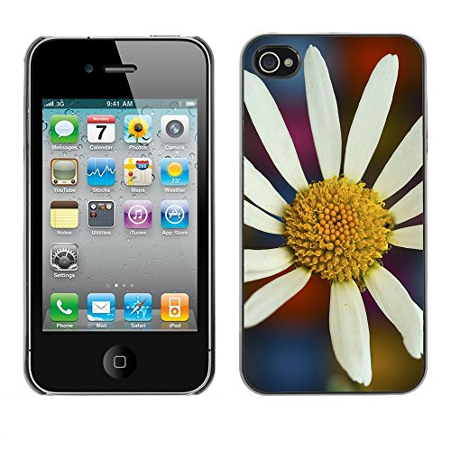 Premio Sottile Slim Cassa Custodia Case Cover Shell // F00004712 une fleur // Apple iPhone 4 4S 4G