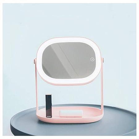 XIONGDA Multifunción LED Maquillaje Espejo Lámpara de Mesa Carga ...