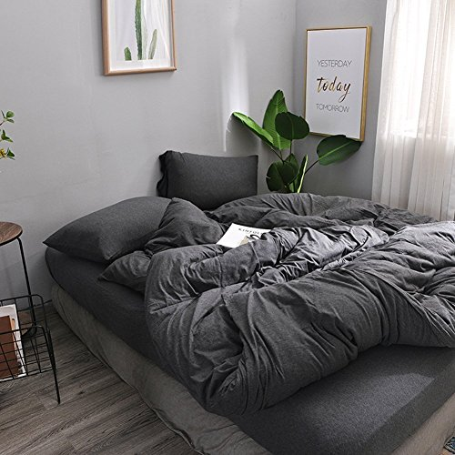 MisDress Super Soft Jersey Knit Cotton 4 Pieces Duvet Cover