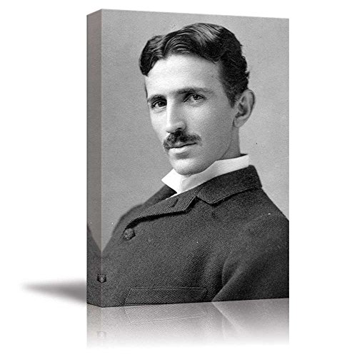 Portrait of Nikola Tesla Inspirational Famous People Series