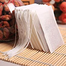 Disposable Tea Filter Bags Empty Drawstring Bags for Loose Leaf Tea Set of 200 By Wonlives