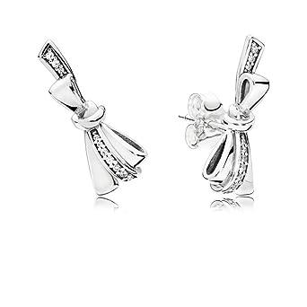 f2f8a830e Amazon.com: Pandora Brilliant Bows Silver Stud Earrings 297234CZ ...