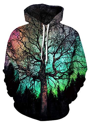 Azuki Unisex Realistic 3D Digital Print Pullover Hoodie Hooded Sweatshirt S ()