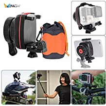 Andoer Wewow Sport X1 Wearable Single Axis Stabilizer Gimble for GoPro Hero Xiaomi Yi SJCAM Action Camera for Samsung iPhone 7/7plus/6plus/6/5 Smartphone