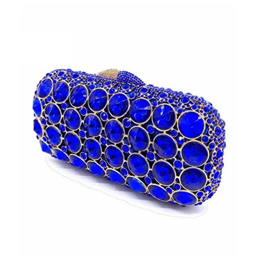 Grado Frizione Gioiello Ad Di Blue Lusso Borsa Vuoto Di Sera Frizione Alto Di Di Diamante Completo 6qdxx8AS