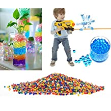 10000 Pcs 3mm Colored Bullet Balls For Water Gun Pistol Toys Kids Soft Crystal Water Paintball Toys Mini Round Crystal Soil Grow Balls Water Beads Magic Jelly Balls