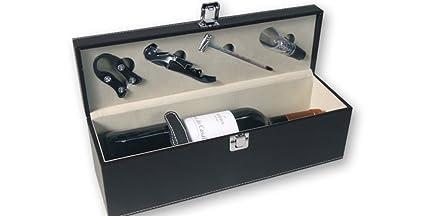 Compra Dakota Estuche Caja de Vino Polipiel con Accesorios ...