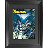 Batman The Dark Knight 3D Poster Wall Art Decor Framed Print | 14.5x18.5 | Lenticular Posters & Pictures | Memorabilia Gifts for Guys & Girls Bedroom | DC Comic Book Classic Superhero Movie Fan Photo