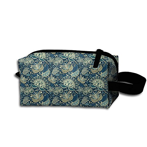 Travel Cosmetic Bag Bohemian Nomadic Floral Paisley Botanica