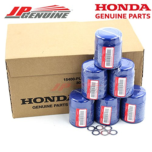 Acura/Honda OEM Genuine 15400-PLM-A02 Engine Oil Filter + Drain Washers - Set of 6 by Honda