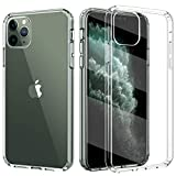 TiMOVO Compatible with iPhone 11 Pro Case, Hybrid PC Hard Panel TPU Bumper Anti-Scratch Shockproof Slim Cover for Apple iPhone 11Pro 5.8 inch 2019 - Clear