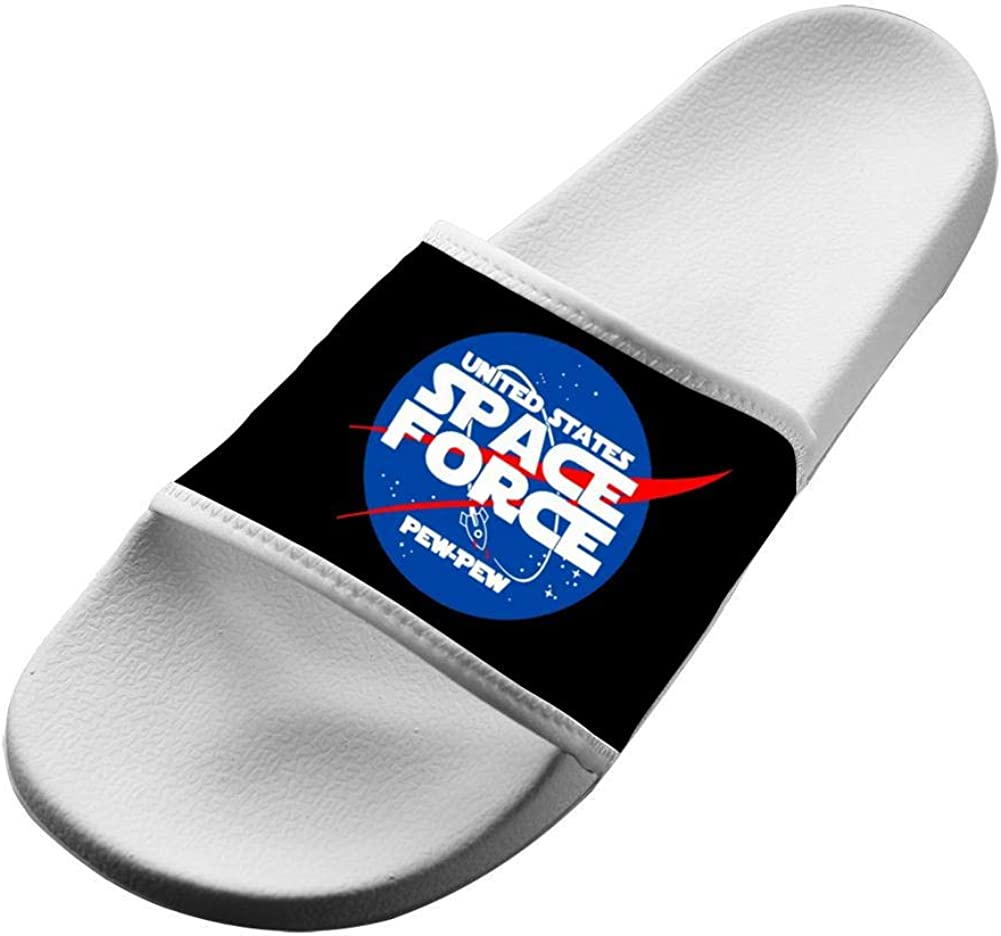 Shoes Unisex Non-Slip Space Force Pew Pew Casual Slide Sandals Indoor /& Outdoor Slippers