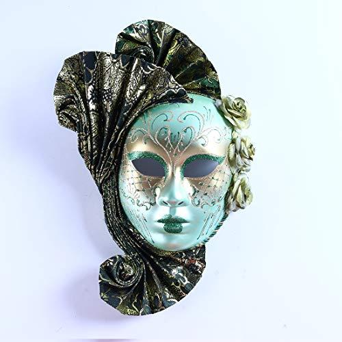 Full Face Carnival Mask Mardi Gras Court Jester Handmade Venice Style -