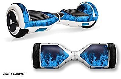 Skin Wrap for Hoverboard Self Balancing Board Fits Swagway X1 - Ice Flame