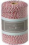 Spago bicolore rosso e bianco, 200 m, ideale per confezionare regali e molto altro