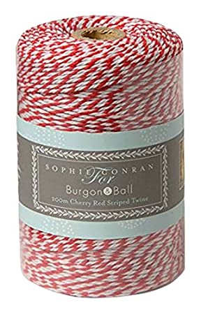 200m Red and White Twine use as bakers twine garden twine or