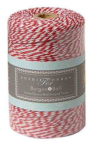 Rollo de cordel (200m), color rojo y blanco Rollo de cordel (200m) Burgon & Ball