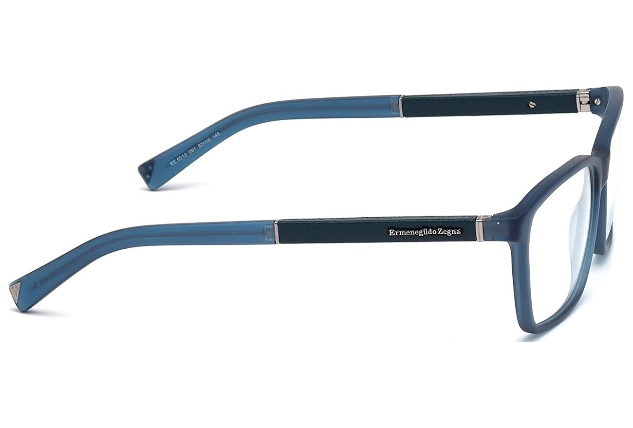5dc1acd04e1 Amazon.com  ERMENEGILDO ZEGNA Eyeglasses EZ5012 091 Matte Blue 54MM   Clothing