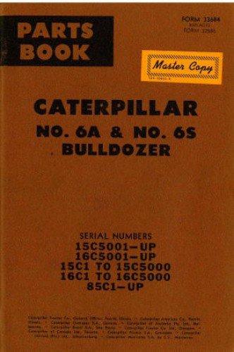 CAT-UE033684 Caterpillar No 6A and No 6S Bulldozer Parts Manual pdf