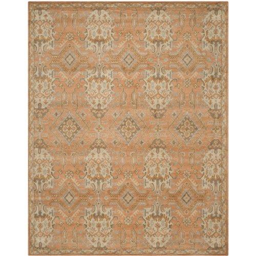 Safavieh Wyndham Collection WYD203A Handmade Terracotta Wool Area Rug, 6 feet by 9 feet (6