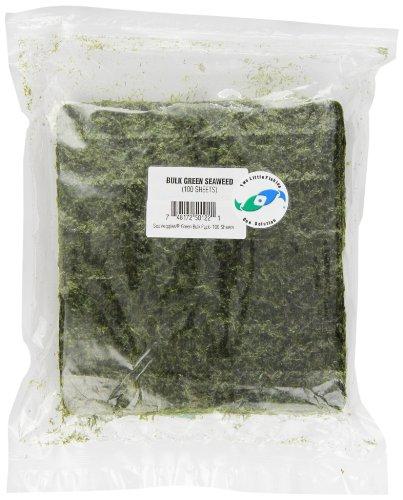 (Two Little Fishies Atlsvgsb Sea Veg-Green Seaweed Bulk 100 Sheets)