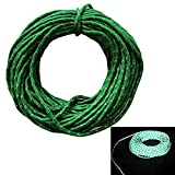 Nylon Guy Line Tent Rope Camping Cord - Intensity Reflective at Night,Woven for High Strength, 50 Feet, Green - It is essential outdoor travel gadgets
