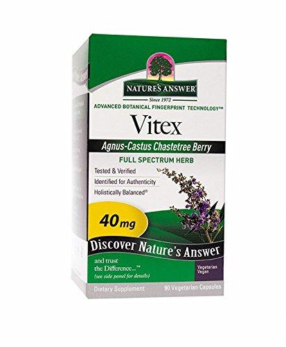 Nature's Answer Vitex (Agnus-Castus) Chastetree Berry Vegetarian Capsules, 90-Count