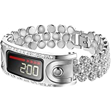 For Garmin Vivofit Band,Replacement Accessory Metal Band With Rhinestone Women for Garmin Vivofit and Garmin Vivofit 2,NOT for Garmin Vivofit 3/4/JR/HR (No Tracker)