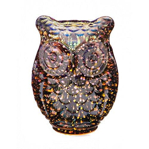 Evergreen Stargazing Rose Gold LED Glass Owl Statue (Evergreen Statue)