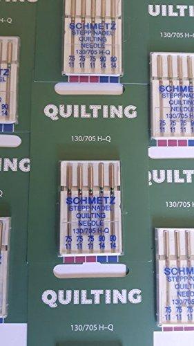 5 Schmetz Quilt-Nadeln Stärke 90 für Nähmaschinen