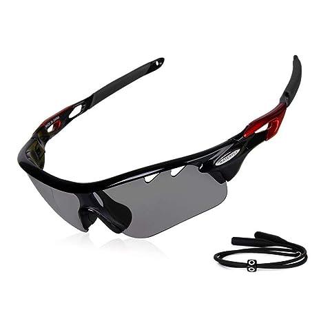 bd2ba587b2 Gafas de sol fotocromáticas Gardom para ciclismo, con protección UV, lente  que cambia de