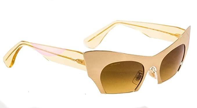 Amazon.com: Miu Miu Rasoir mu53os Cat Eye anteojos de sol de ...