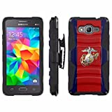 [ArmorXtreme] Case for SAMSUNG GALAXY GRAND PRIME G530 Black/Black [Combat Armor Heavy Duty Case with Holster] - [Marines]
