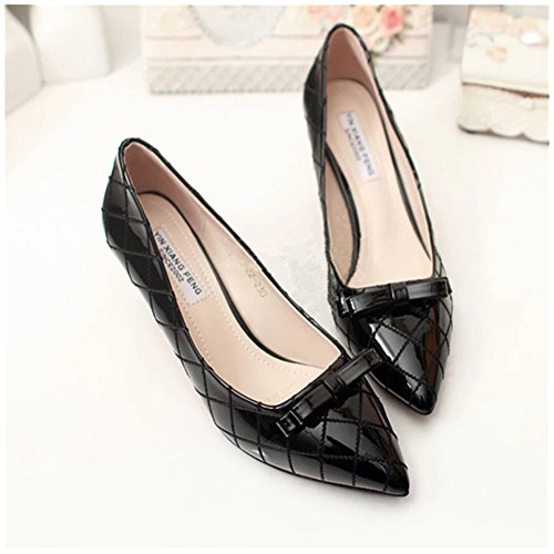 Douqu 2 pcs 2.8inch Popular PU Leather Bridal Prom Bow Repair Shoe Clips Shoe Charm Accessories (Black) (Prom Shoes Accessories)