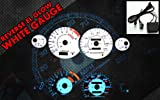Brand New White Face Blue Indigo Reverse Glow Gauges For 95-96 Nissan 240SX S14 (I-378)