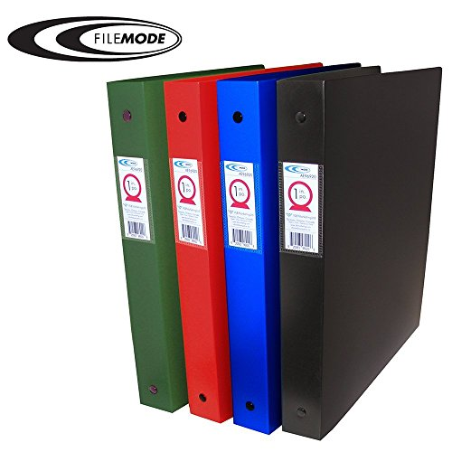 Thick Poly Ring Binder (Filemode Extra Thick Poly Binder, Red, 1.5