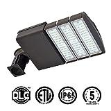 KAWELL 150 Watt LED Parking Lot Light, Led Street Light, Commercial grade Outdoor Site Area Led Shoe Box Light 16500 LM 4800-5300K, ROHS,CE,ETL,DLC Listed, 5 Years Warranty