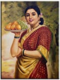 INDIAN LADY PORTRAIT FINE ART GICLEE PAINTING ON CANVAS