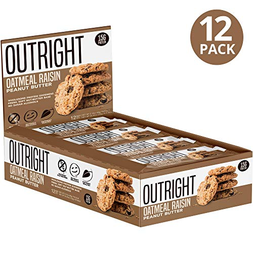 Outright Bar - Whole Food Protein Bar - 12 Pack - MTS Nutrition - Peanut Butter Oatmeal Raisin ()