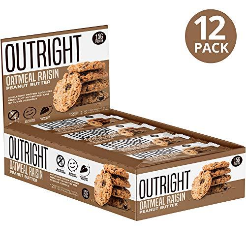 Outright Bar - Whole Food Protein Bar - 12 Pack - MTS Nutrition - Peanut Butter Oatmeal Raisin - Oatmeal Raisin Peanut Butter