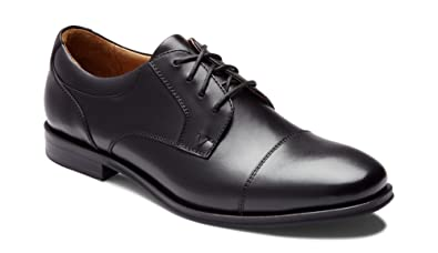 09758b414898 Vionic Men s Spruce Shane Oxford - Leather Dress Shoes with Concealed Orthotic  Arch Support Black 7