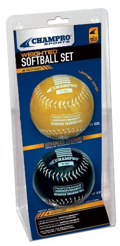 Champro Advanced Weighted Training Softball (Yellow/Black, 12-Inch)